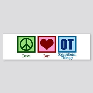 Peace Love OT Sticker (Bumper)