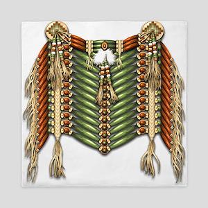 Native American Breastplate 3 Queen Duvet
