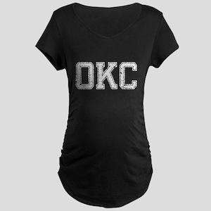 OKC, Vintage, Maternity Dark T-Shirt