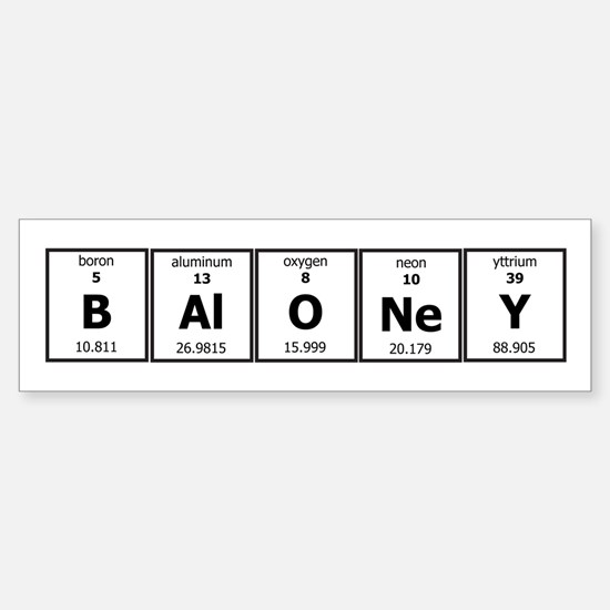 BAlONeY Sticker (Bumper)