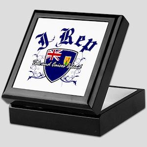 I Rep Turk and Caicos Island Keepsake Box