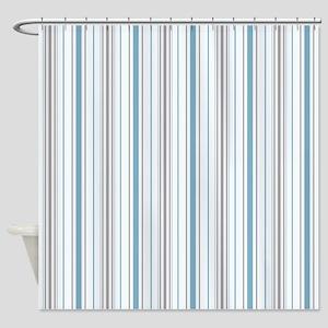 Amara Stripe Cornflower Shower Curtain