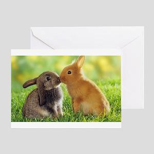 Love Bunnies Greeting Card