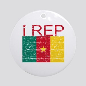 I Rep Cameroon Ornament (Round)