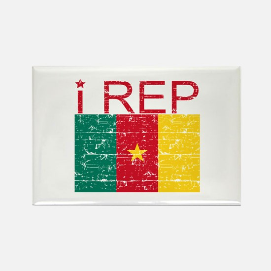 I Rep Cameroon Rectangle Magnet