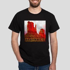 I Love Utah Monument Valley Black T-Shirt