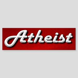 Atheist Classic Sticker (Bumper)