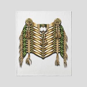Native American Breastplate 5 Throw Blanket