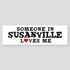 Susanville: Loves Me Bumper Sticker