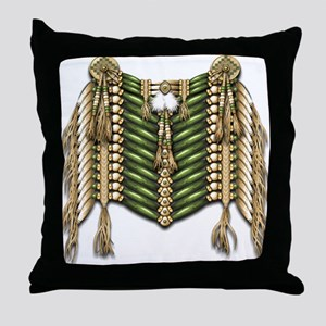Native American Breastplate 6 Throw Pillow