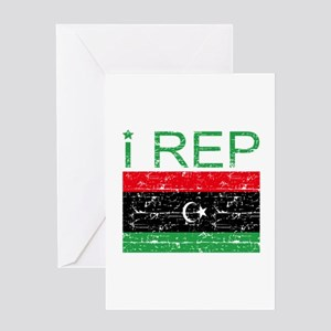 I Rep Libya Greeting Card