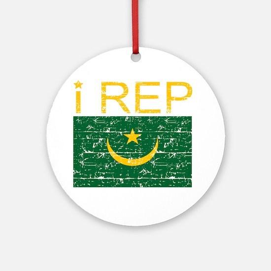 I Rep Mauritania Ornament (Round)