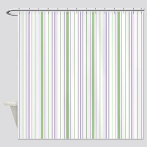 Amara Stripe Lavender Shower Curtain