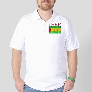 I Rep Sao Tome and Principe Golf Shirt