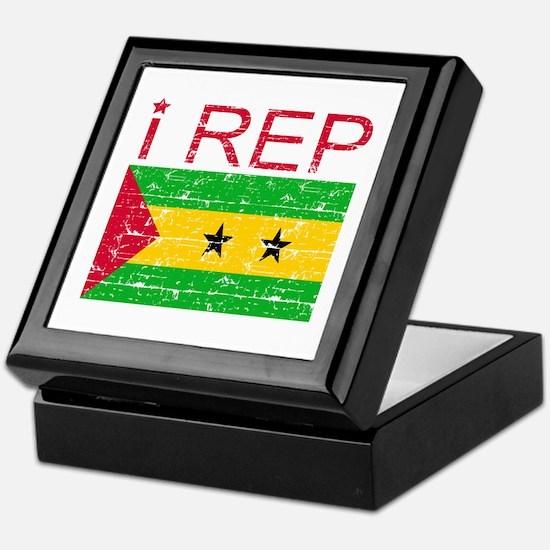 I Rep Sao Tome and Principe Keepsake Box