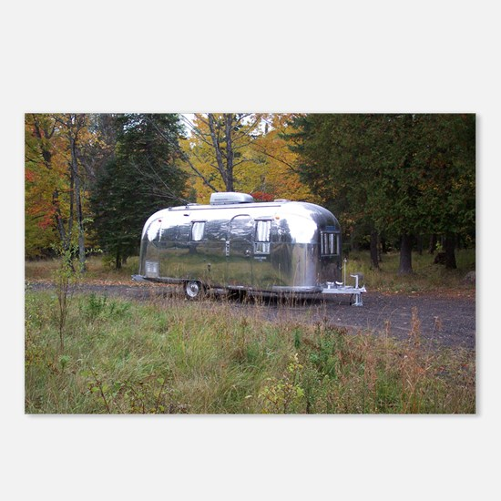 Vintage Camper In Autumn Postcards (Package of 8)