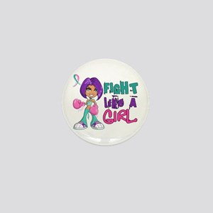 Licensed Fight Like a Girl 42.8 Thyroi Mini Button