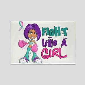 Licensed Fight Like a Girl 42.8 T Rectangle Magnet