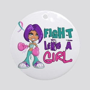 Licensed Fight Like a Girl 42.8 T Ornament (Round)