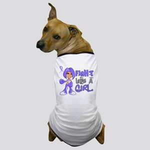 Fight Like a Girl 42.8 Stomach Cancer Dog T-Shirt