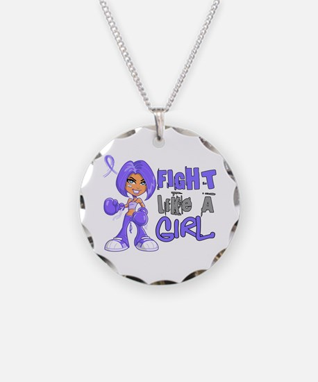 Fight Like a Girl 42.8 Stomach Cancer Necklace