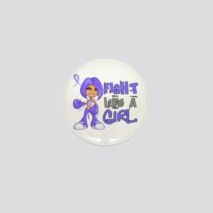 Fight Like a Girl 42.8 Stomach Cancer Mini Button