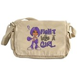 Fight like a girl Canvas Messenger Bags