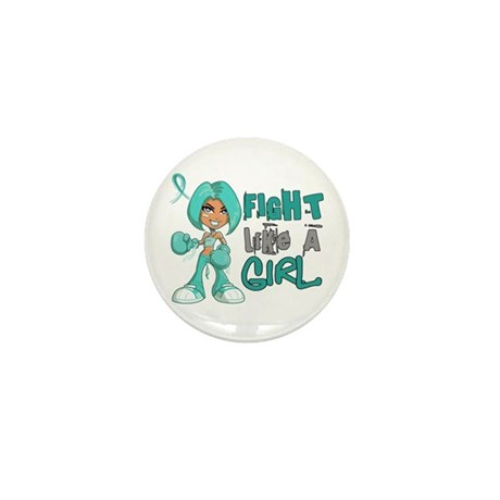 Fight Like a Girl 42.8 PKD Mini Button (10 pack)