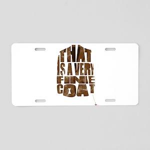 fine coat Aluminum License Plate