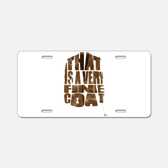 fine coat Aluminum License Plate