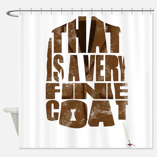 fine coat Shower Curtain