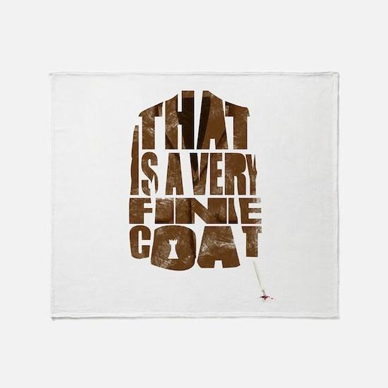 fine coat Throw Blanket
