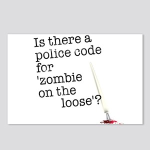 zombie on the loose Postcards (Package of 8)