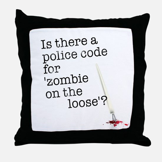 zombie on the loose Throw Pillow