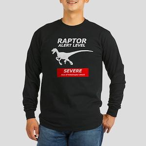 Severe Raptor Alert Long Sleeve Dark T-Shirt