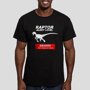 Severe Raptor Alert Men's Fitted T-Shirt (dark)