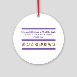 Psalm 127:3 Ornament (Round)
