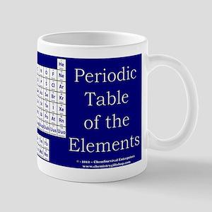 Periodic Table - Blue/White Mug