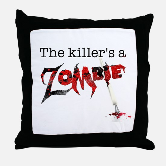 The killers a zombie Throw Pillow