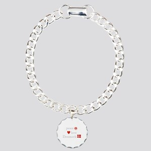 Peace, Love and Denmark Charm Bracelet, One Charm