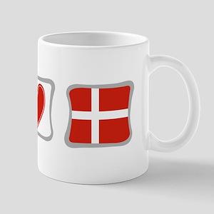 Peace, Love and Denmark Mug