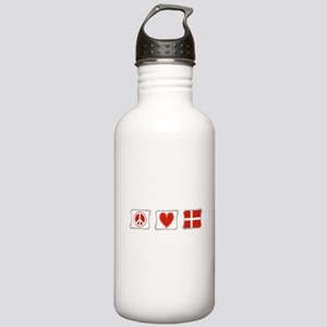 Peace, Love and Denmark Stainless Water Bottle 1.0