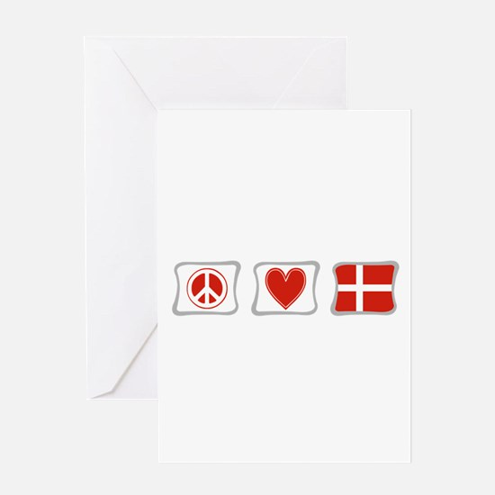 Peace, Love and Denmark Greeting Card