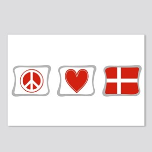 Peace, Love and Denmark Postcards (Package of 8)