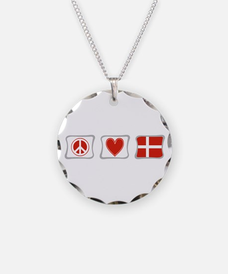 Peace, Love and Denmark Necklace