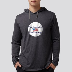 Pro America, anti trump Mens Hooded Shirt