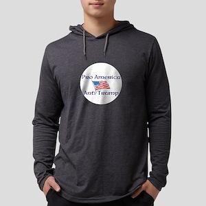 Pro America, anti trump Mens Hooded Shirt