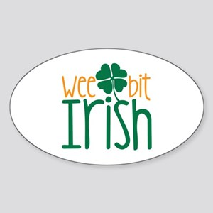 Wee Bit Irish Sticker (Oval)