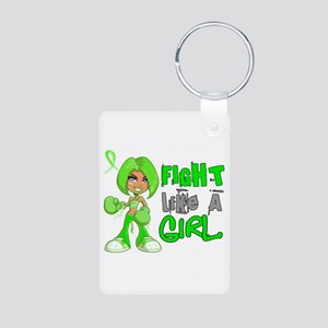 Licensed Fight Like a Girl Aluminum Photo Keychain