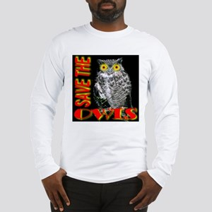 Save The Owls Long Sleeve T-Shirt